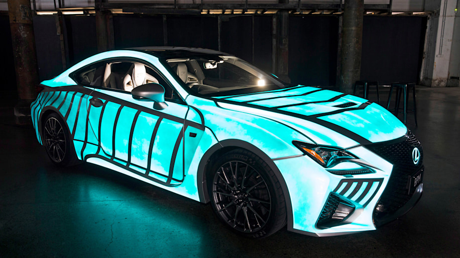 Lexus RC F glow in the dark