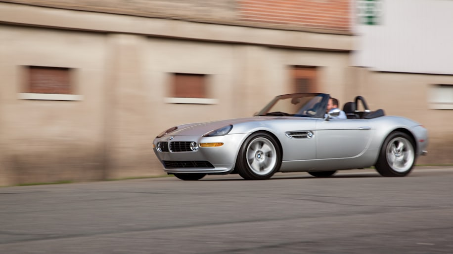 2001 BMW Z8 moving front 3/4