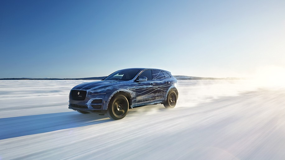 Jaguar F-Pace cold weather testing front 3/4
