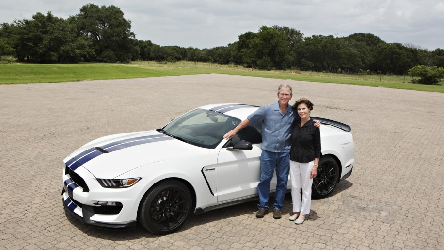 President George W. Bush Laura Bush 2016 Ford Shelby GT350