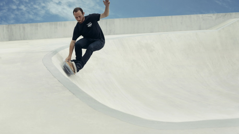 Pro skateboarder Ross McGouran tests the hoverboard