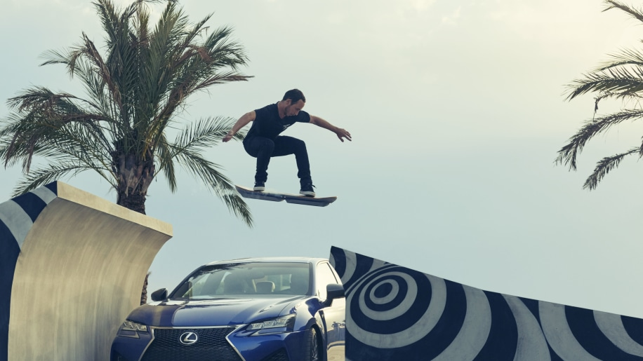 Lexus jumped by hoverboard