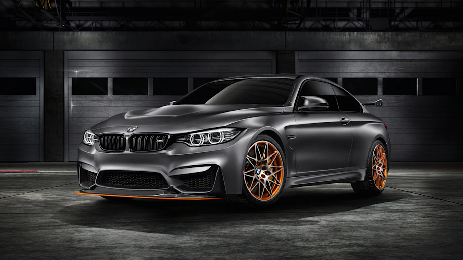 m4 gts concept bmw orange wheels