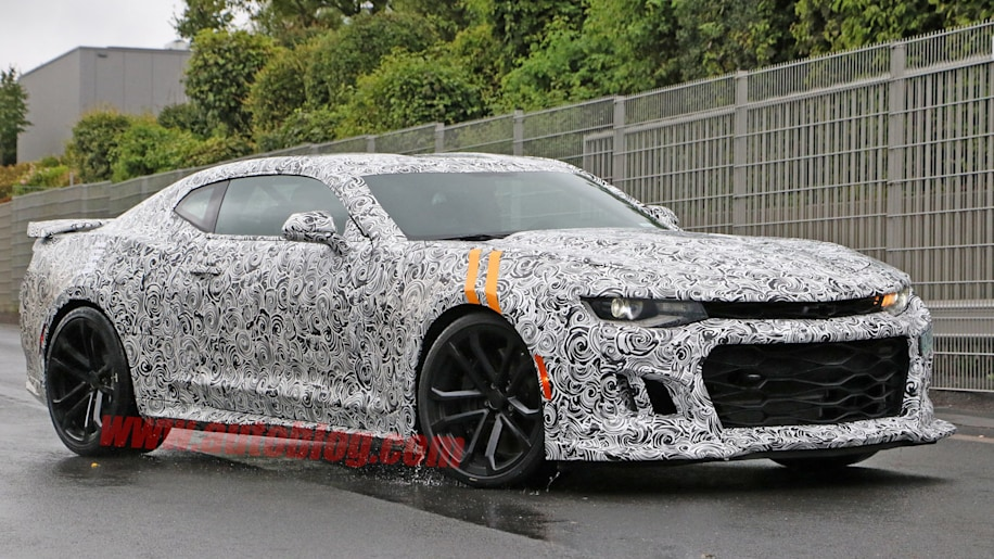 chevy camaro zl1 spy shot front three quarters
