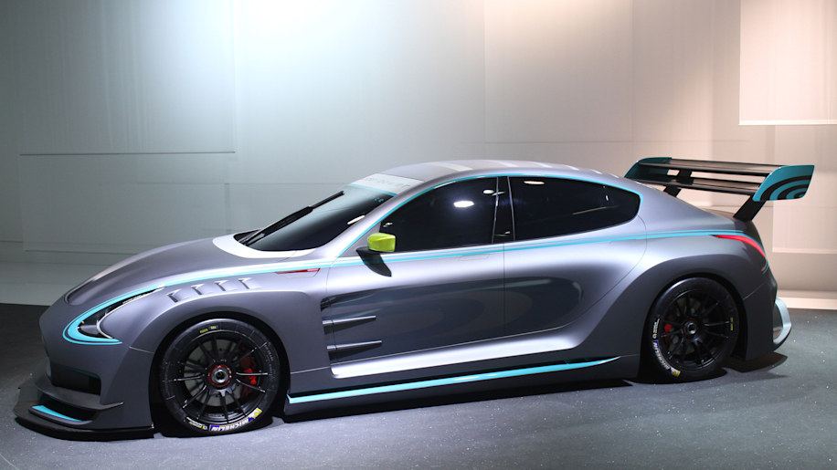 The electric Thunder Power Racer revealed at the 2015 Frankfurt Motor Show, front three-quarter view.