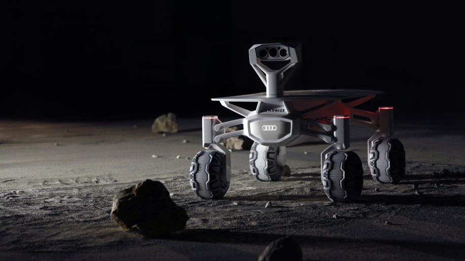 Audi Lunar Quattro on the surface of the moon