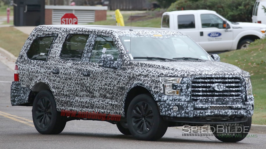 2018 Ford Expedition prototype front 3/4