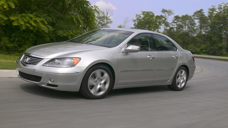 Acura RL silver driving