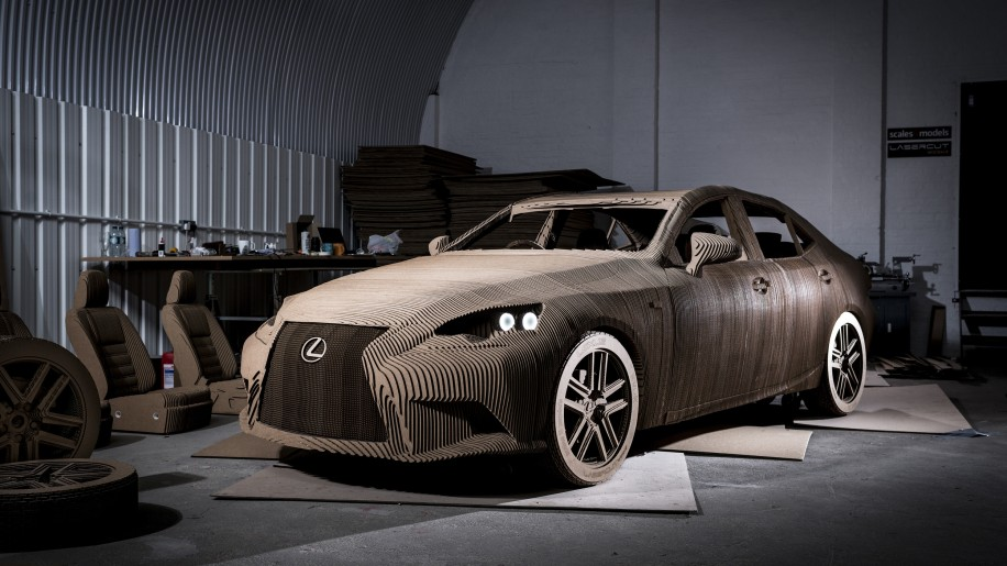 Lexus IS Cardboard Replica front 3/4
