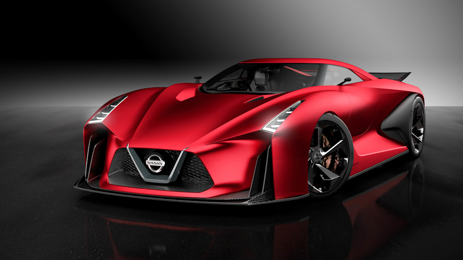 Nissan Concept 2020 Vision Gran Turismo red front 3/4