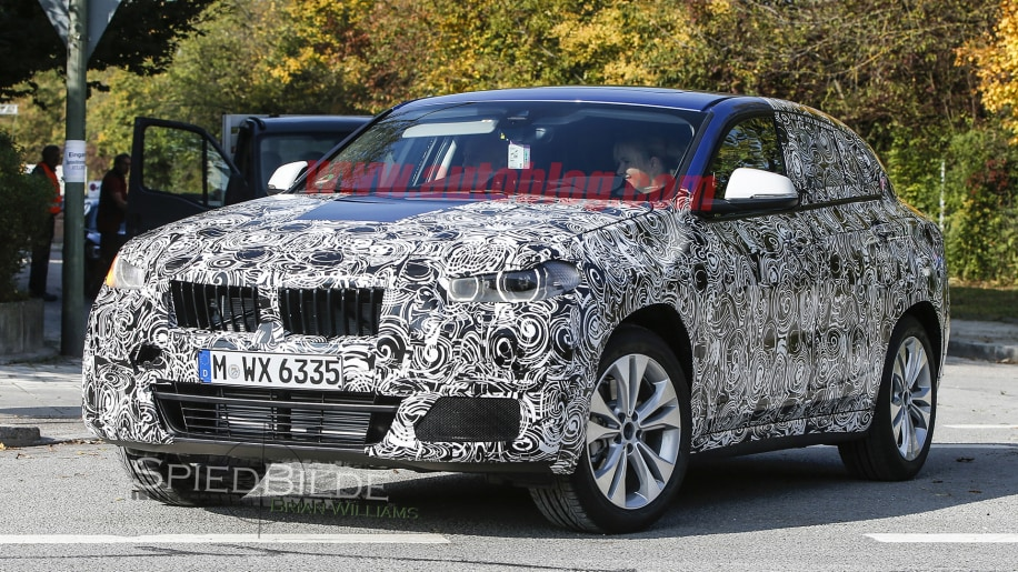 x2 bmw spied camo front headlights wheels