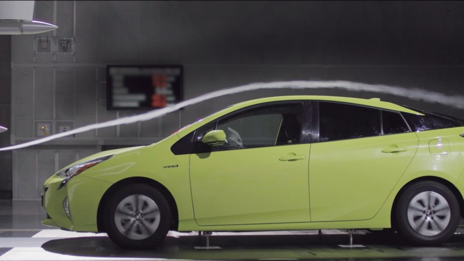 2016 Toyota Prius in the wind tunnel