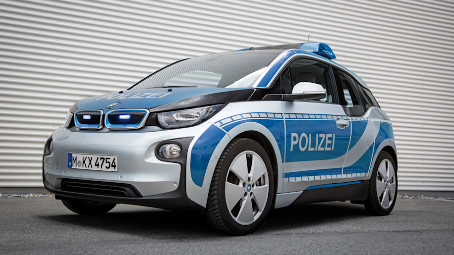 BMW i3 police car Bavaria front 3/4