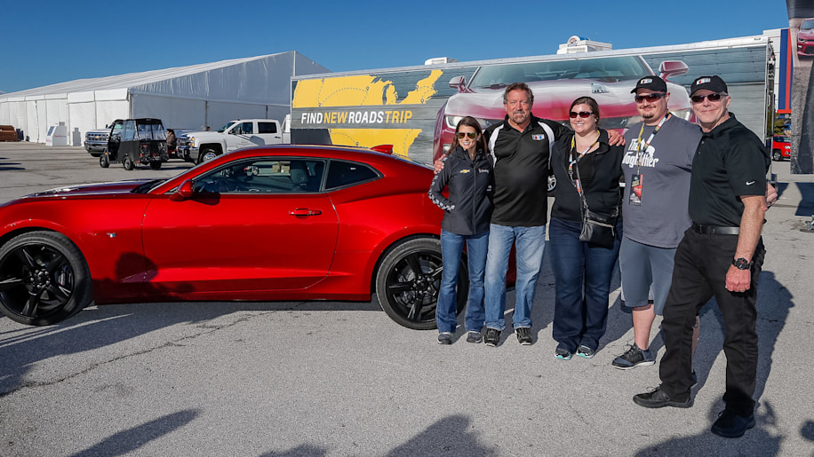 Danica Patrick delivers first 2016 Chevy Camaro