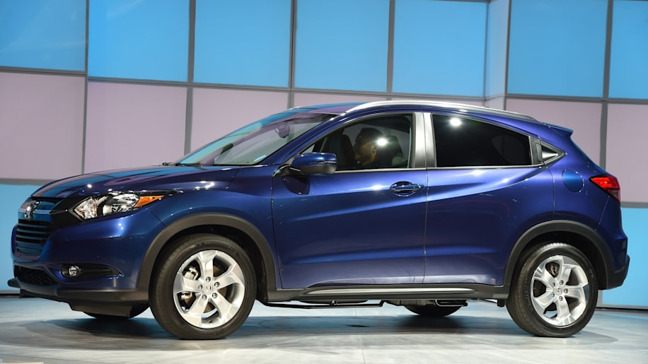 2016 Honda HR-V crossover in blue