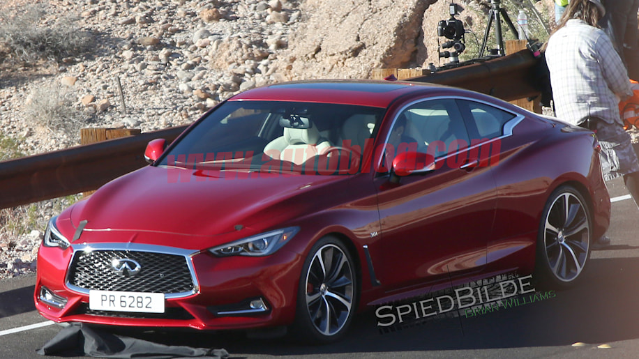 infiniti q60 coupe spy photos two-door