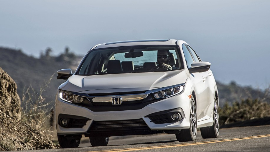 2016 Honda Civic sedan in white
