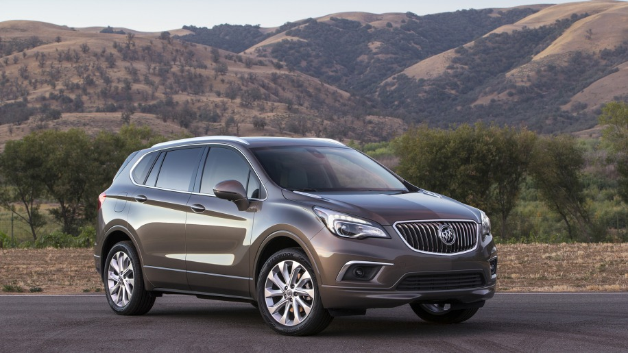 buick envision cuv luxury mountains