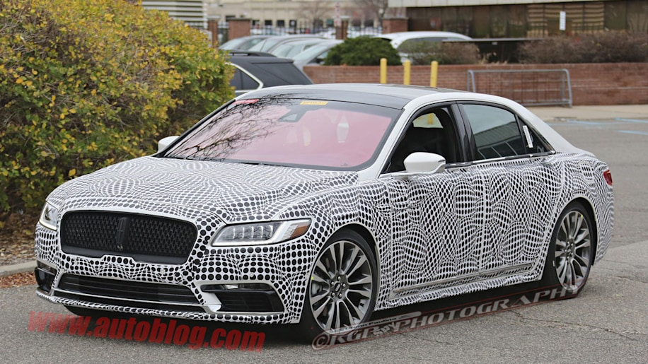 lincoln continental spy shot
