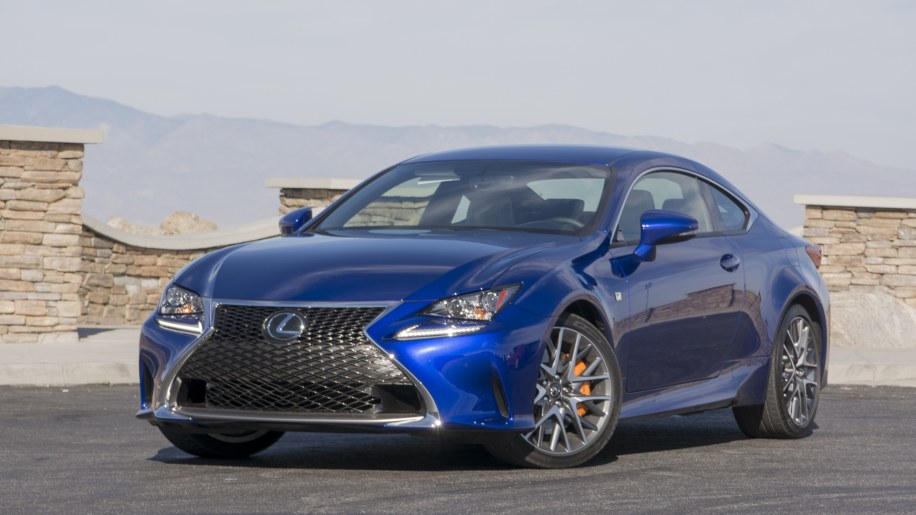 lexus rc200t coupe turbocharged mountains