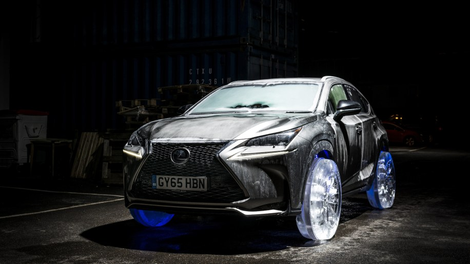 Frozen Lexus NX on Ice Wheels