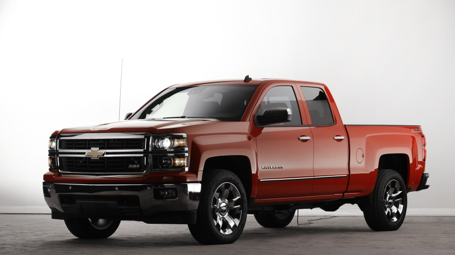 2015 Chevy Silverado pickup truck in red