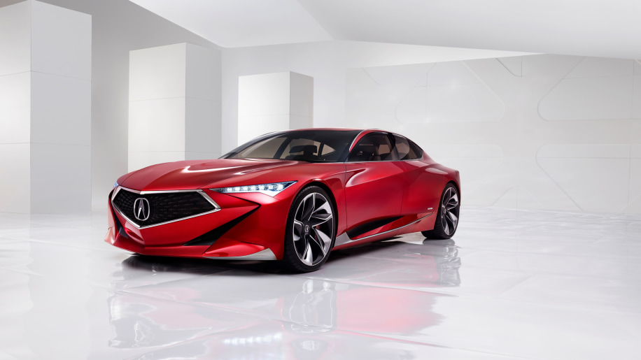 The Acura Precision Concept, front three-quarter view.