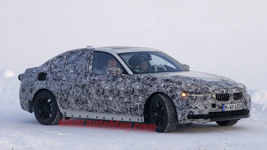 bmw 3 series spy shot