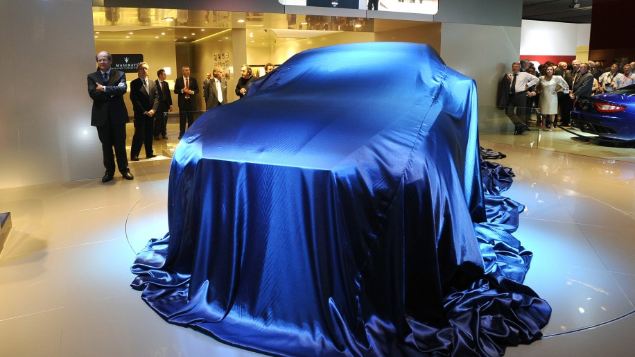 Maserati Levante concept under covers