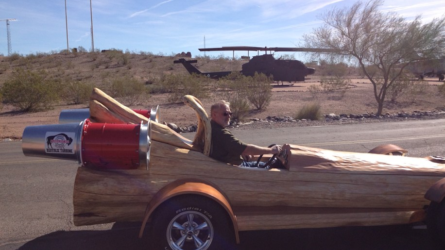 Cedar Rocket Is The Fastest All Electric Log Car In The World