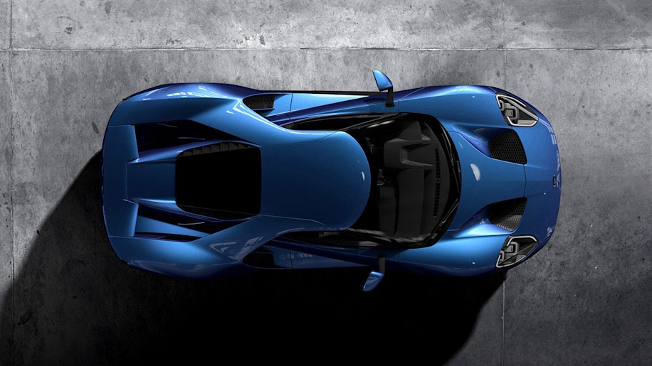 2017 Ford GT overhead view