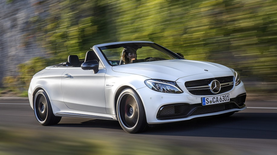 2017 Mercedes-AMG C63 S Cabriolet driving