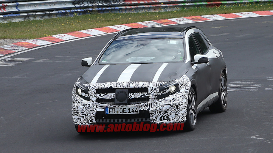 Mercedes-Benz GLA45 AMG caught track testing