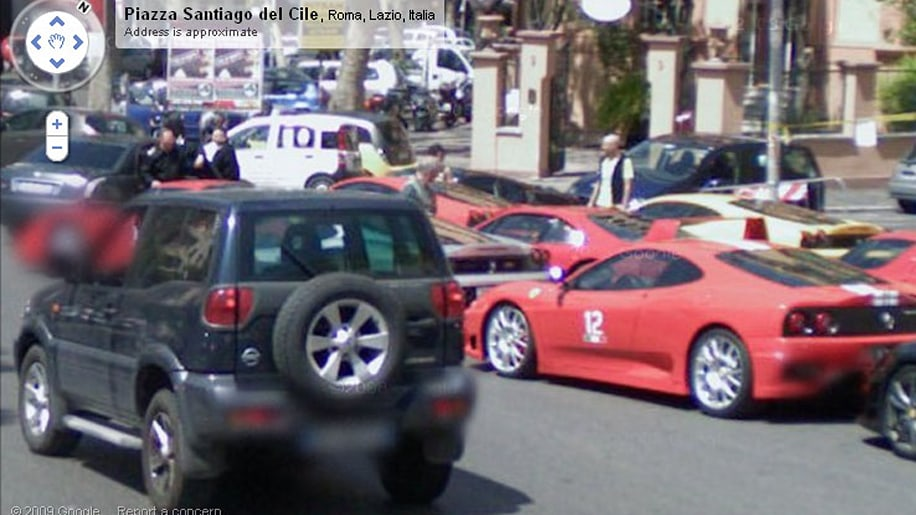 Google Street View Catches Flock Of Ferraris In Natural Habitat