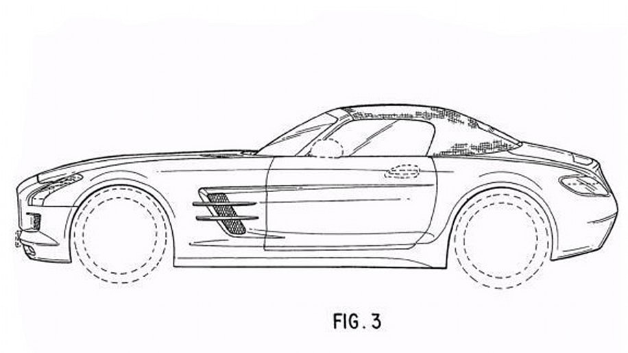 mercedes sls amg roadster final form revealed in patent drawings