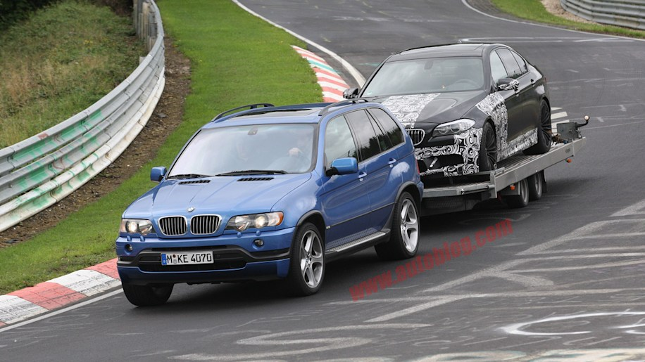 Spy Shots BMW M5 prototype gets towed off the Ring  Autoblog