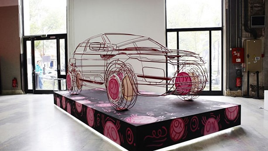Land Rover Evoque Wire-Frame Art