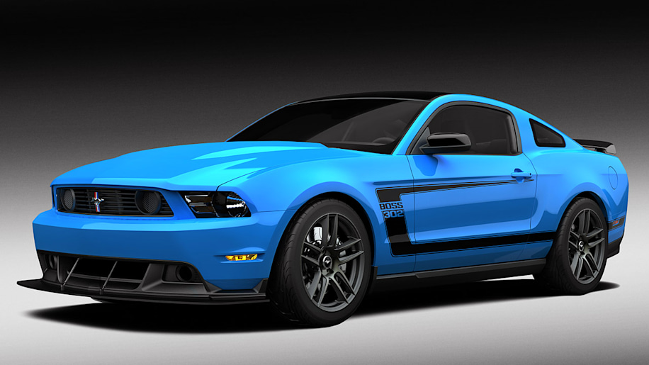 2012 ford mustang boss 302 in grabber blue photo gallery. Black Bedroom Furniture Sets. Home Design Ideas