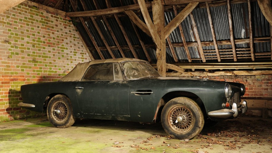 Aston Martin DB4 Convertible Barn Find