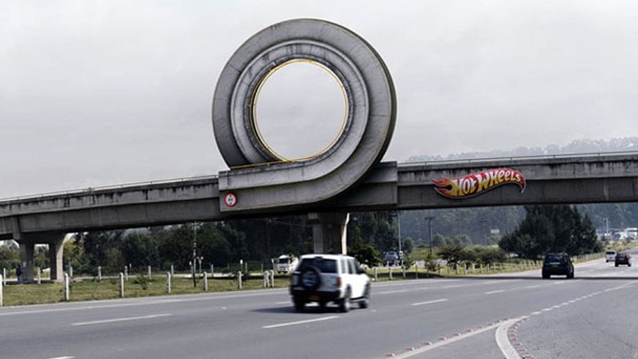 Hot Wheels Full-Size Outdoor Advertisement