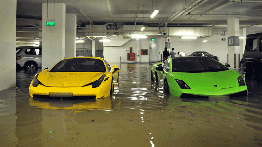 Flood Damaged Exotic Cars In Singapore Photo Gallery