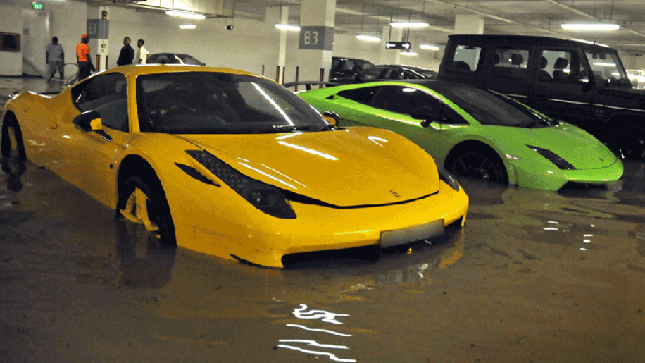 Millions in exotic cars go swimming in flooded Singapore garage ...