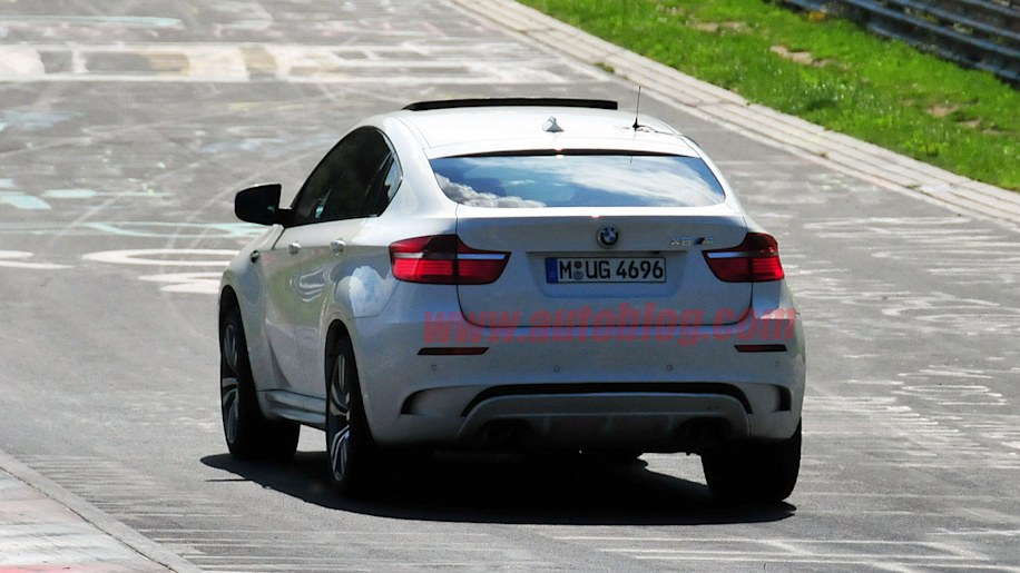 BMW X6 M with triturbo diesel seen breathing heavy at the Ring
