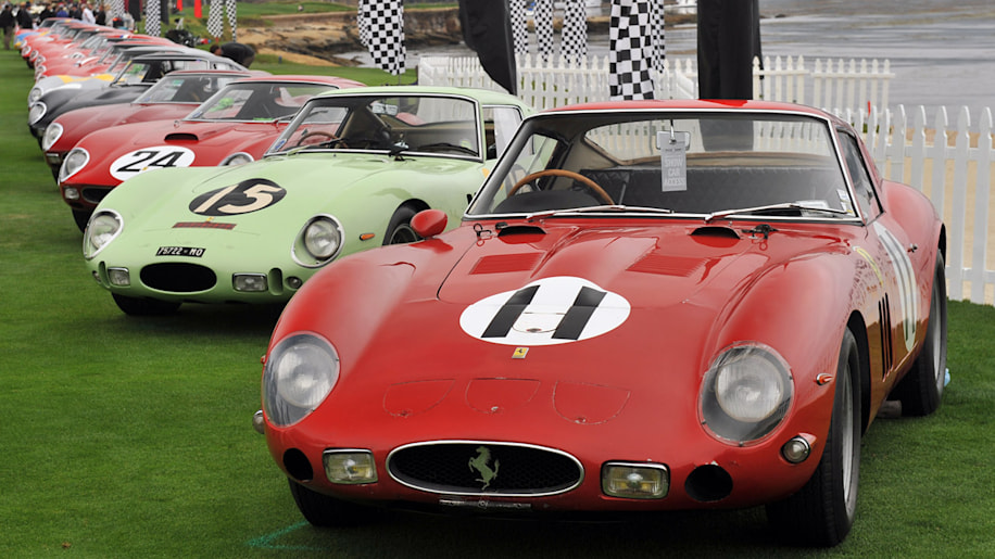 ferrari 250 gto gathering takes over pebble beach autoblog. Black Bedroom Furniture Sets. Home Design Ideas