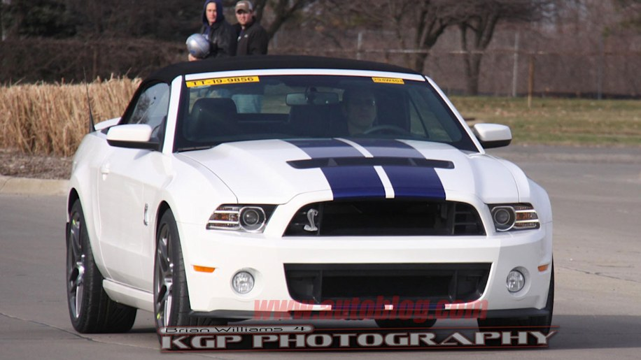 Spy Shots: 2013 Ford Mustang GT500 Convertible Photo ...