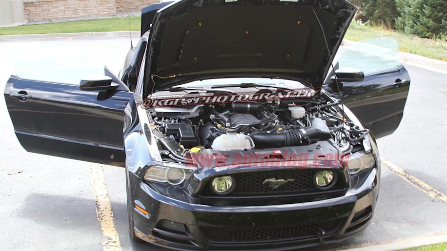 2015 Ford Mustang Mule Spotted With Production Nose Autoblog