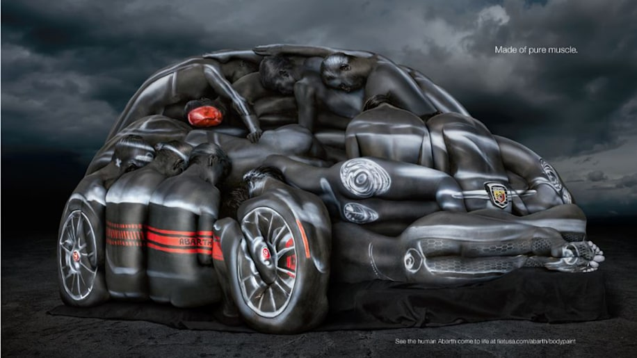 2013 Fiat 500 Abarth Cabriolet Body Paint
