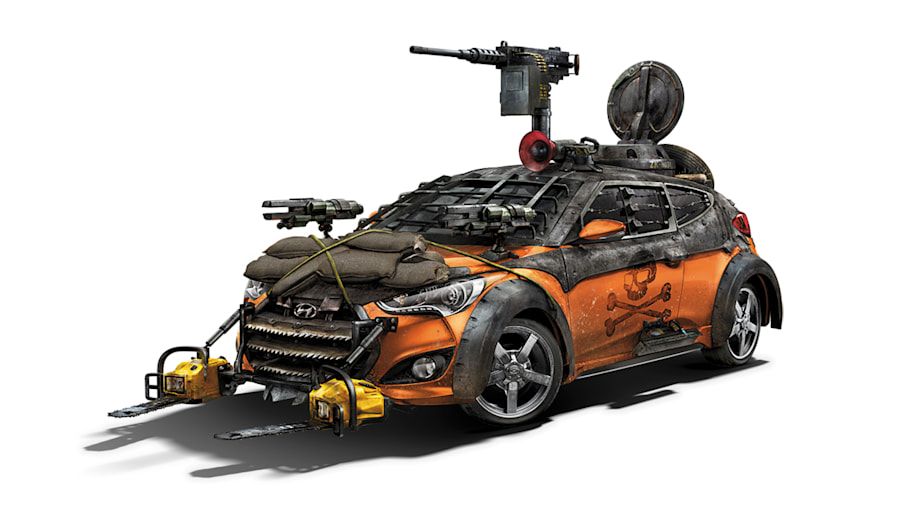 Hyundai Veloster Turbo Zombie Survival Machine