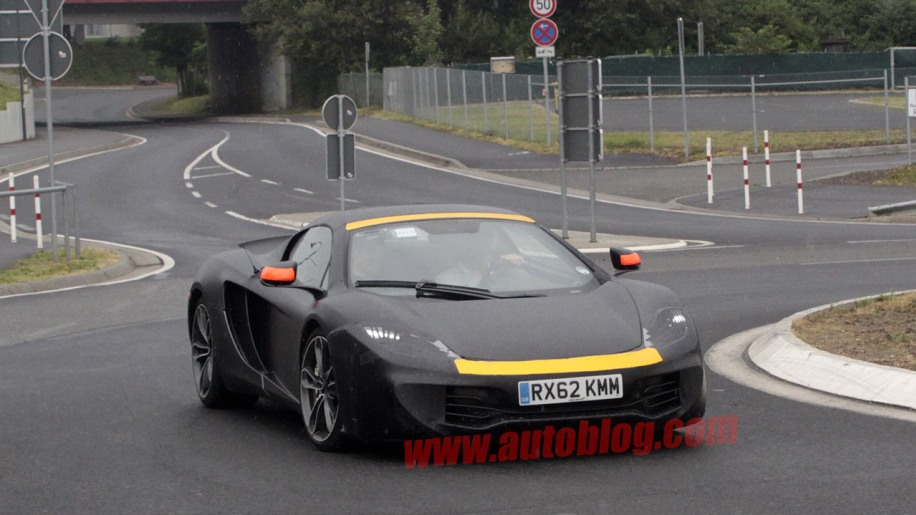 McLaren P13 technology mule seen at the 'Ring