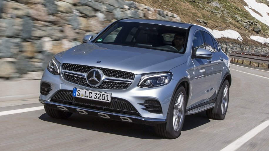 2017 Mercedes-Benz GLC300 Coupe driving